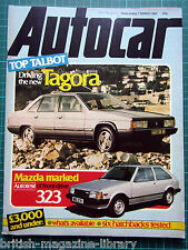 Autocar 7 March 1981 RAC Rally Talbot Tagora Test: Mazda 323 DL 88 Lotus Tagora