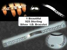 Beautiful Mens/Womens New Sterling Silver I.D. Bracelet 925 on Clasp
