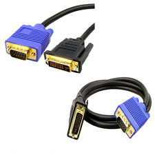 DVI 24+5 (DVI-I) Male to VGA 15 pin Male Monitor Cable 1.5 METERs