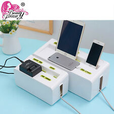 New Cable Storage Case Wire Management Socket Safety Tidy Organizer Solution Box