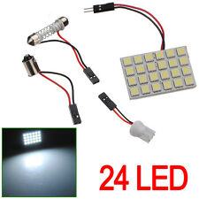 Panel 24 LED SMD C5W Festoon T10 W5W BA9S Maletero Interior.. Blanco Xenon placa
