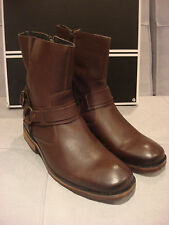 ROBERT WAYNE MEN'S BENJAMIN TEXTURED RUST SHOES BOOTS SIZE 11 - BRAND NEW - NWT
