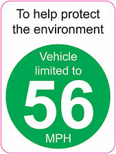 [ 120x160mm ] LIMITED TO 56 MPH | TO HELP PROTECT THE ENVIRONMENT - VAN/WAGGON