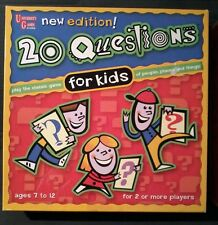 20 QUESTIONS FOR KIDS/ UNIVERSITY GAMES/ BOARD GAME