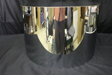 "Vintage Milo Baughman for THAYER COGGIN Stainless Steel Drum Table 14"" H 22"" Dia"