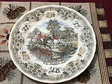"Churchill China Hunting Scenes  Herring Hunt ""The Death""~Dinner Plate 10"""