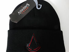 Assassins Creed Logo Video Game Cuff Black Knit Hat Nwt