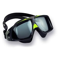 AQUA SPHERE SEAL 2.0 SWIM MASK GOGGLE TINTED LENS BLACK FRAME REGULAR ADULT