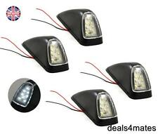 4X WHITE 8 LED OUTLINE CORNER ROOF LIGHTS LAMPS SIDE MARKER FOR MAN DAF SCANIA