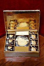 """Porcelana Vintage """"van Trading' 12 piezas Juego de Café Copa Y PLATILLO"""