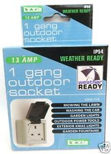 OUTDOOR SINGLE SOCKET 1 gang 13 amp Weather Ready Proof Lyvia IP54