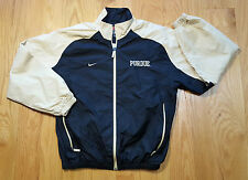 Mens SMALL Purdue Boilermakers Team Nike Authentic Lined Windbreaker jacket