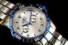 Invicta 10307 Speciality SwissMade Ronda 2Tone Silver/Blue SS Bracelet Watch NEW