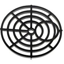 "Pack x2 Round Gulley Grid Cover Tough Black Nylon Drain Cover 6"" 150mm Std Fit"