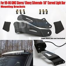 99-06 Chevy/GMC 50 Inch Curved LED Light Bar Upper Windshield Mounting Brackets