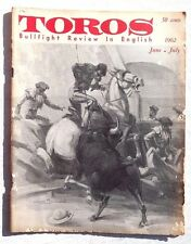 Vintage June July 1962 Toros (Matador) Bullfighting Review In English Magazine