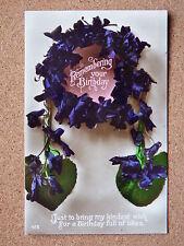 R&L Postcard: Greetings, Birthday Floral Wreath