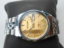 Rare Vintage CITIZEN MIDSIZE 32mm GOLDEN DIAL SS Gents MENS Automatic WristWatch