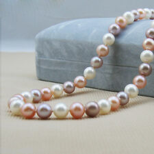 """Wholesale AAA+ Natural Real Mix colour Freshwater Pearl Roundish Loose Beads 15"""""""