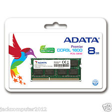 ADATA 8GB 1.35V Low Voltage DDR3L 1600 MHz PC3-12800 RAM SO-DIMM Memory Laptop