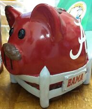 Alabama Crimson Tide Piggy Bank Pig Pen Large Resin New Unisex Children Football