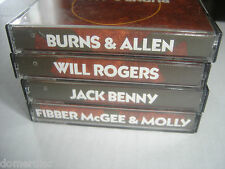 Cassette Tape Lot 4 Old Time Radio Benny Burns Allen Rogers Fibber McGee Molly