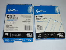 """lot of 300 quill.com postage meter labels p1150 1.5""""x5.5 2 per sheet 150ct QUILL"""