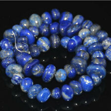 """6mm-13mm Natural Lapis Freeform Rondelle Nugget Spacer Beads 7.5"""""""