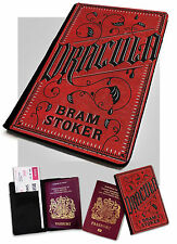 Passport Holder- Dracula Bram Stoker -Book Cover Design -Faux Leather Cover Case