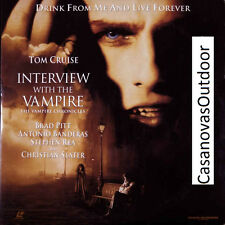 INTERVIEW WITH THE VAMPIRE TOM CRUISE/BRAD PITT/BANDERAS 2 LASERDISC SET, NEW!