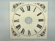 Reproduced Painted Metal Dial for 8 Day OG Weight Clock Rose Green Color Corners