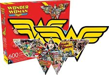 Wonder Woman double sided die cut 600 piece jigsaw puzzle 840mm x 360mm (nm)