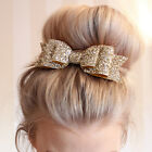 Fashion Women Girls Sequins Big Bowknot Barrette Hairpin Hair Clips Hair Bow