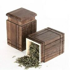 1pc Chinese Tea Caddy Container High Quality Wood
