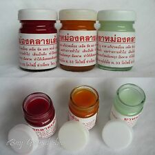 3 x 50g YA-MONG-KLAY-SEN - Herbal Thai Massage Balm Muscle & Pain Relief