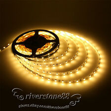Super Light 5M 3528 SMD 500CM  Warm White 300 LED Flexible Strip Lamp DC 12V