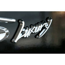Universal Vehicles LUXURY Logo Silver Tuning Emblem #D