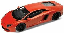 WELLY 1:24 W/B LAMBORGHINI AVENTADOR LP700-4 Diecast Car Model Orange Color