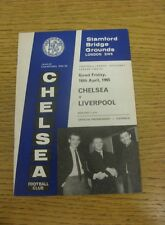 16/04/1965 Chelsea v Liverpool  (Team Changes).  We are pleased to be able to of