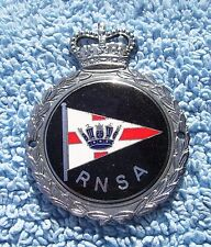 VINTAGE 1960s ROYAL NAVAL SAILING ASSOCIATION CAR BADGE -OLD RNSA NAVY CLUB RARE
