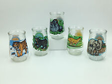 LOT of 5  1995 Welch's Jelly/Jam Glasses WWF Endangered Species # 4, 5, 8, 9, 10