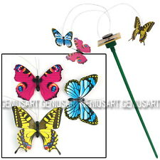 3 Mariposas Accionadas por Energía Solar Decoración para Jardín Terraza Hogar
