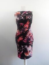Coast Red Piana Print Carly Jersey Dress Size UK 10 RRP £89 Box4660 L