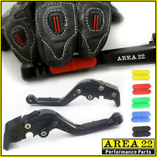 Area 22 Suzuki GSXR600 97-2003 Comfort Rubber Grip Adjustable Short Levers Black