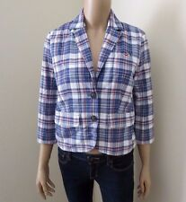 Hollister Womens Plaid Vintage Jacket Blazer Sweater Size Small Coat Shirt