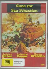 GUNS FOR SAN SEBASTIAN ANTHONY QUINN & CHARLES BRONSON ALL REGION DVD
