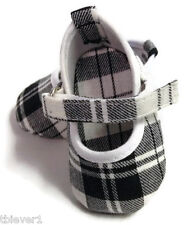 "Black & White Plaid Mary Jane Shoes made for 18"" American Girl Doll Clothes"