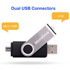 Black 16 GB USB Micro USB Thumb Pen Flash Drive Memory Stick Storage