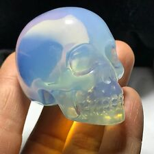 Artificial Opal Opalite Crystal Carving ART Skull  Realistic Healing 82g H040508