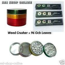 Rasta Colour Aluminium Pollen  /Herb Grinder /Crusher - 4 Parts - Width -32 MM
